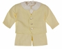 "<img src=""https://p11.secure.hostingprod.com/@grammies-attic.com/ssl/images/blue-sold-1.gif""> NEW Victorian Heirlooms Yellow Linen Eton Suit Set with Suspendered Shorts"