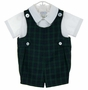 "<img src=""https://p11.secure.hostingprod.com/@grammies-attic.com/ssl/images/blue-sold-1.gif""> NEW Vintage Style Imp Originals Blue and Green Plaid Romper Set"