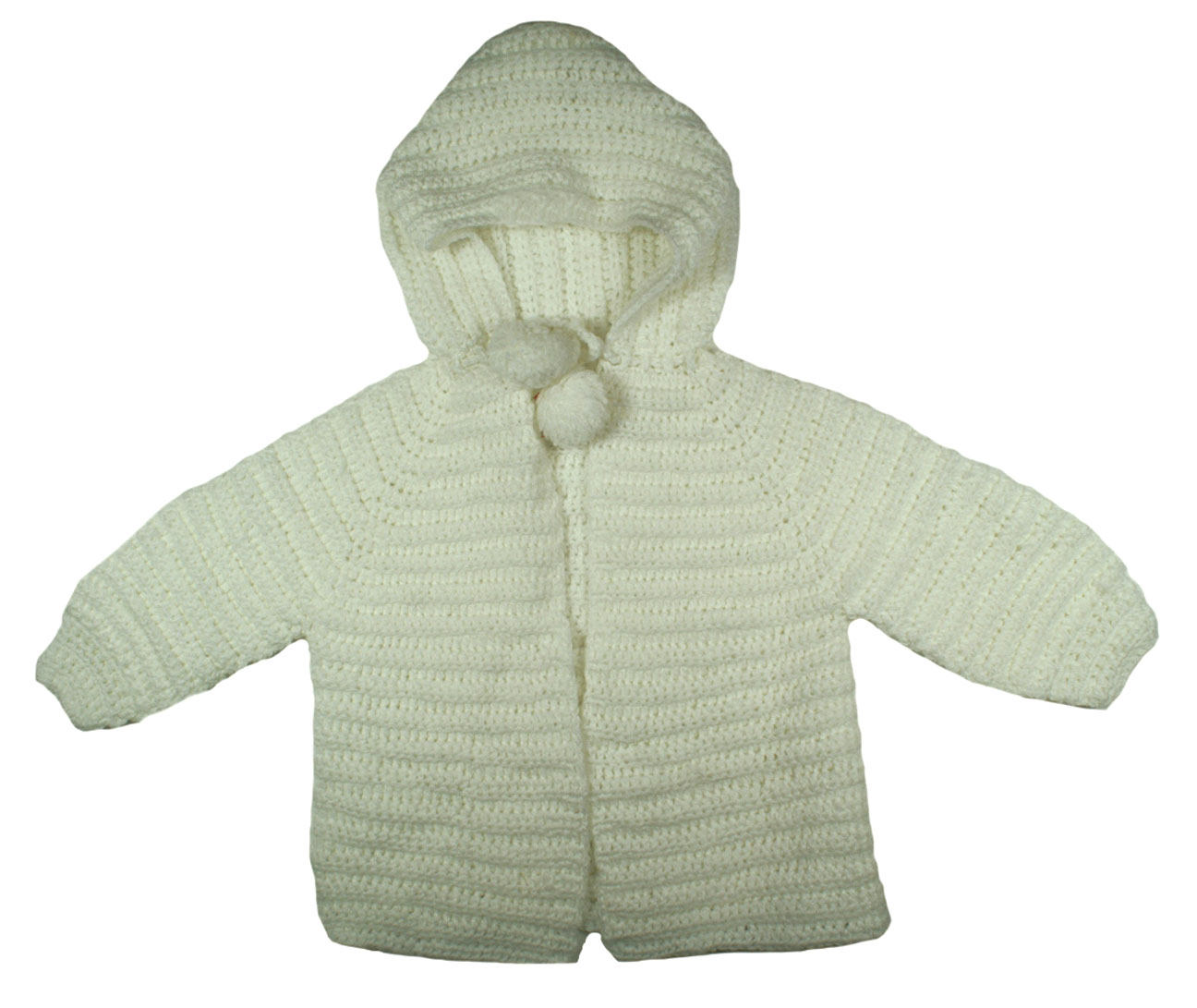 24592f4e8 NEW White Hand Knit Hooded Sweater and Booties Set