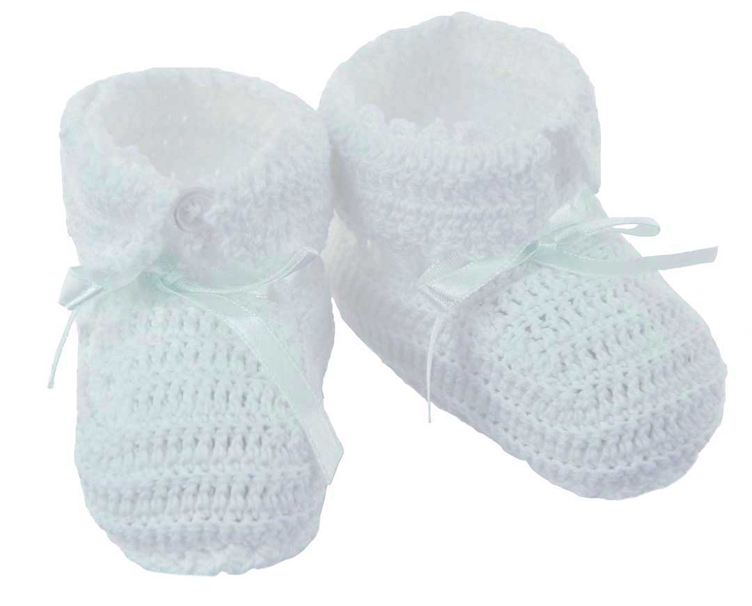 c880e9f1c4a39 white crocheted baby booties,gender neutral baby booties,baby boys ...
