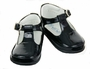 NEW Will'Beth Black Patent Leather T-Strap Shoes for Babies