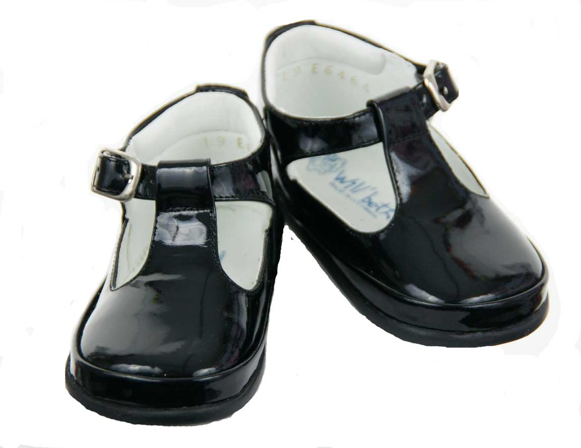 Beth Black Patent Leather Baby Shoes