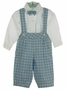 "<img src=""https://p11.secure.hostingprod.com/@grammies-attic.com/ssl/images/blue-sold-1.gif""> NEW Will'Beth Blue and White Plaid Cotton Knickers Set with Bowtie"