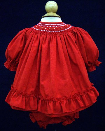 Infant Smocked Christmas Dress