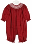 NEW Will'Beth Dark Red Bishop Smocked Long Bubble