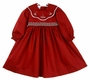 "<img src=""https://p11.secure.hostingprod.com/@grammies-attic.com/ssl/images/blue-sold-1.gif"">  Will'Beth Dark Red Smocked Dress with Holiday Embroidered Portrait Collar"