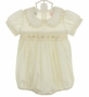 "<img src=""https://p11.secure.hostingprod.com/@grammies-attic.com/ssl/images/blue-sold-1.gif""> NEW Will'Beth Ivory Smocked Bubble with Lace Trim"