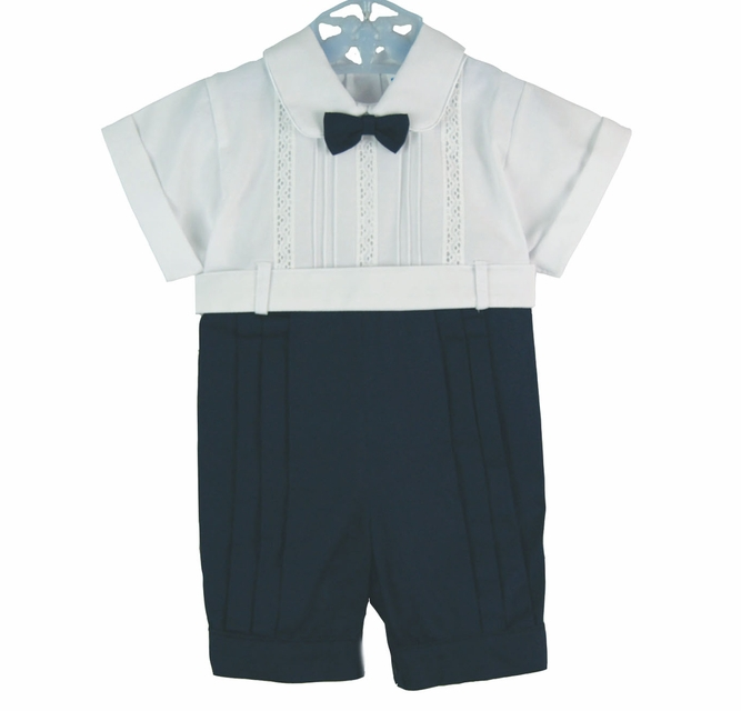 Will/'beth Baby Boys Christening Baptism Romper Outfit Solid White NB 3 18 months
