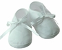 NEW Will'Beth White Cotton Pincord Shoes with White Ribbon Ties