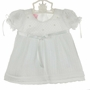 NEW Will'Beth White Delicate Knit Dress with Seed Pearls and Matching Bonnet