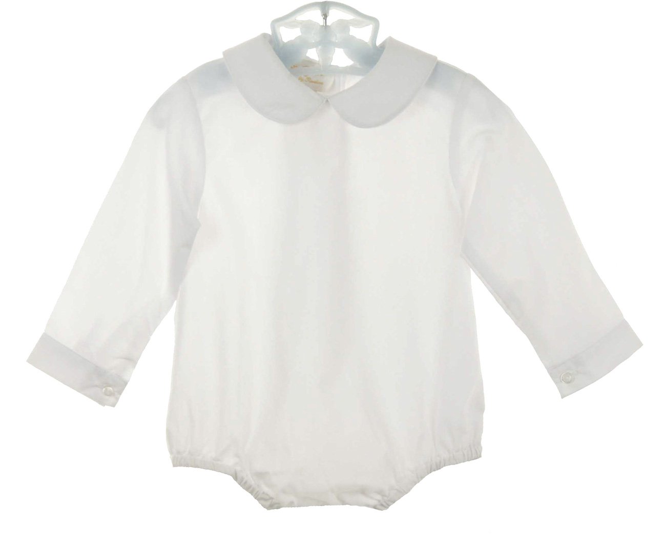 Rosalina Boys White Long Sleeved Shirt With Crotch Snapswhite Long