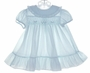 "<img src=""https://p11.secure.hostingprod.com/@grammies-attic.com/ssl/images/blue-sold-1.gif""> Polly Flinders Pale Blue Smocked Dress with Ruffled Hem"