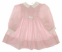 "<img src=""https://p11.secure.hostingprod.com/@grammies-attic.com/ssl/images/blue-sold-1.gif"">  Polly Flinders Pink Smocked Baby Dress with White Collar and White Bow"