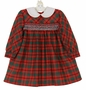 "<img src=""https://p11.secure.hostingprod.com/@grammies-attic.com/ssl/images/blue-sold-1.gif""> Polly Flinders Red and Green Plaid Smocked Dress with White Collar"