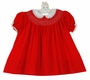"<img src=""https://p11.secure.hostingprod.com/@grammies-attic.com/ssl/images/blue-sold-1.gif""> Polly Flinders Red Cotton Bishop Smocked Dress with White Lace Trimmed Collar"