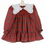 "<img src=""https://p11.secure.hostingprod.com/@grammies-attic.com/ssl/images/blue-sold-1.gif""> Polly Flinders Red Plaid Smocked Dress with White Ruffled Collar"