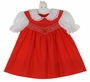 "<img src=""https://p11.secure.hostingprod.com/@grammies-attic.com/ssl/images/blue-sold-1.gif""> Polly Flinders Red Smocked Dress with Heart Embroidery"