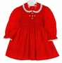 "<img src=""https://p11.secure.hostingprod.com/@grammies-attic.com/ssl/images/blue-sold-1.gif""> Polly Flinders Red Smocked Dress with White Eyelet Trimmed Collar"
