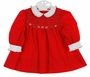"<img src=""https://p11.secure.hostingprod.com/@grammies-attic.com/ssl/images/blue-sold-1.gif"">  Flinders Red Smocked Dress with White Ruffled Collar and Cuffs"