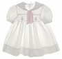 Polly Flinders White Pique Smocked Dress with Embroidered Sailboats and Sailor Collar