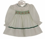 "<img src=""https://p11.secure.hostingprod.com/@grammies-attic.com/ssl/images/blue-sold-1.gif""> Polly Flinders White Smocked Dress with Green Dots and Eyelet Trim"