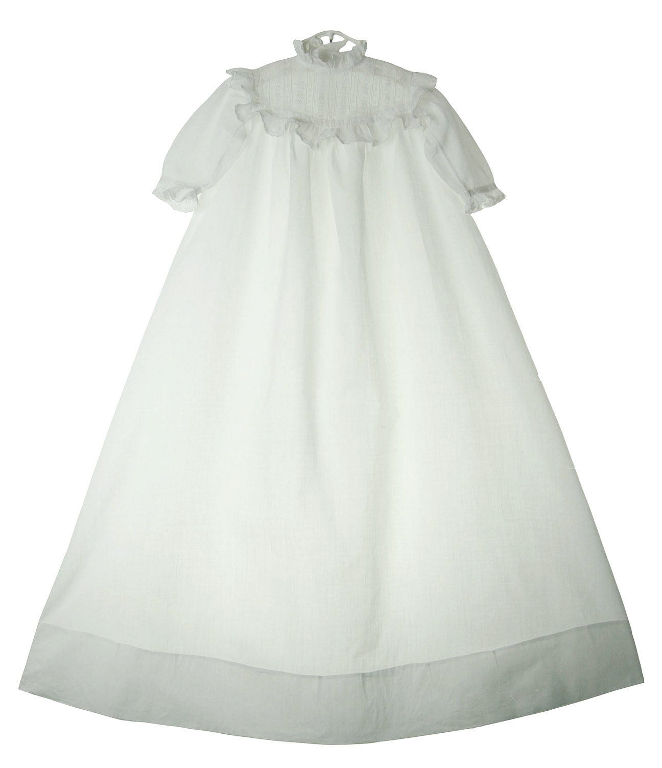 heirloom Victorian christening gown with pintucks and embroidery ...
