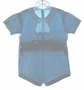 """<img src=""""https://p11.secure.hostingprod.com/@grammies-attic.com/ssl/images/blue-sold-1.gif""""> Vintage 1930s Teal Button On Shorts Set with White Embroidered Collar"""