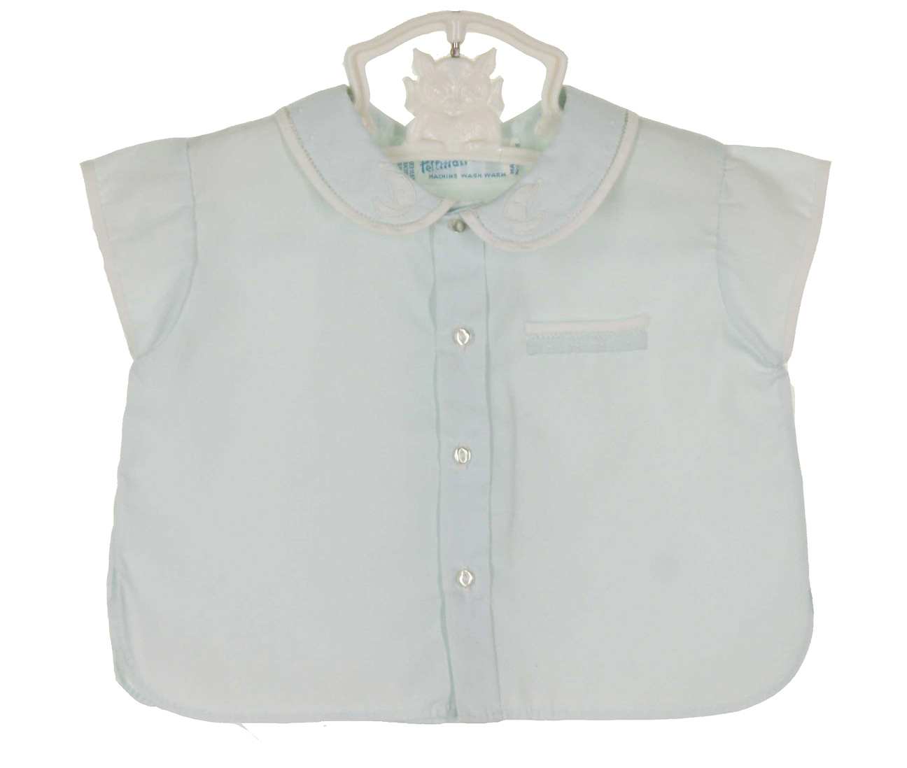 7bd53734e641 Feltman Brothers vintage blue diaper shirt with embroidered ...