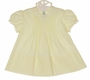 Vintage Feltman Brothers Pale Yellow Pintucked Dress with Embroidery and Lace Insertion