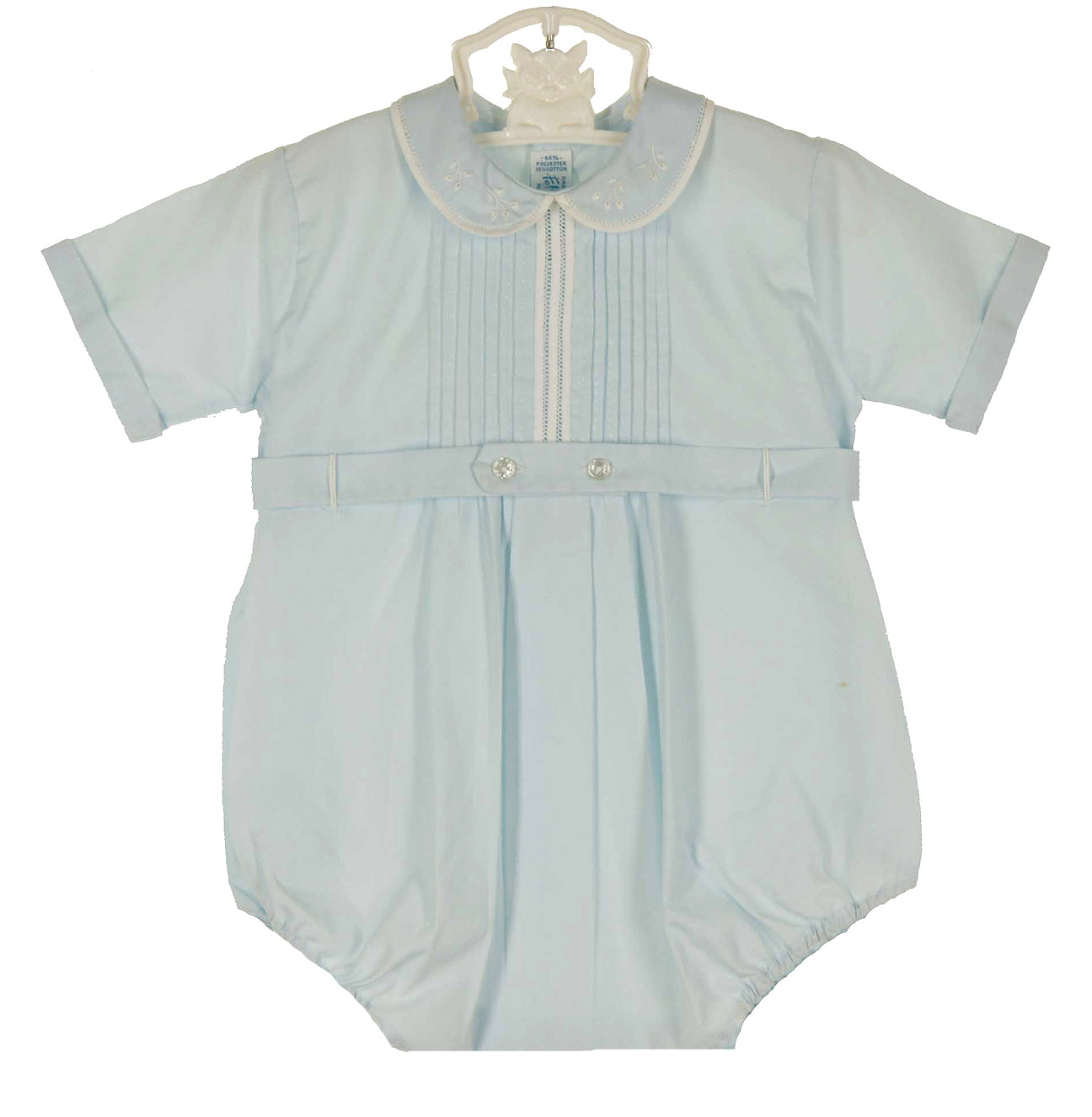 heirloom unworn Feltman Brothers blue pintucked romper