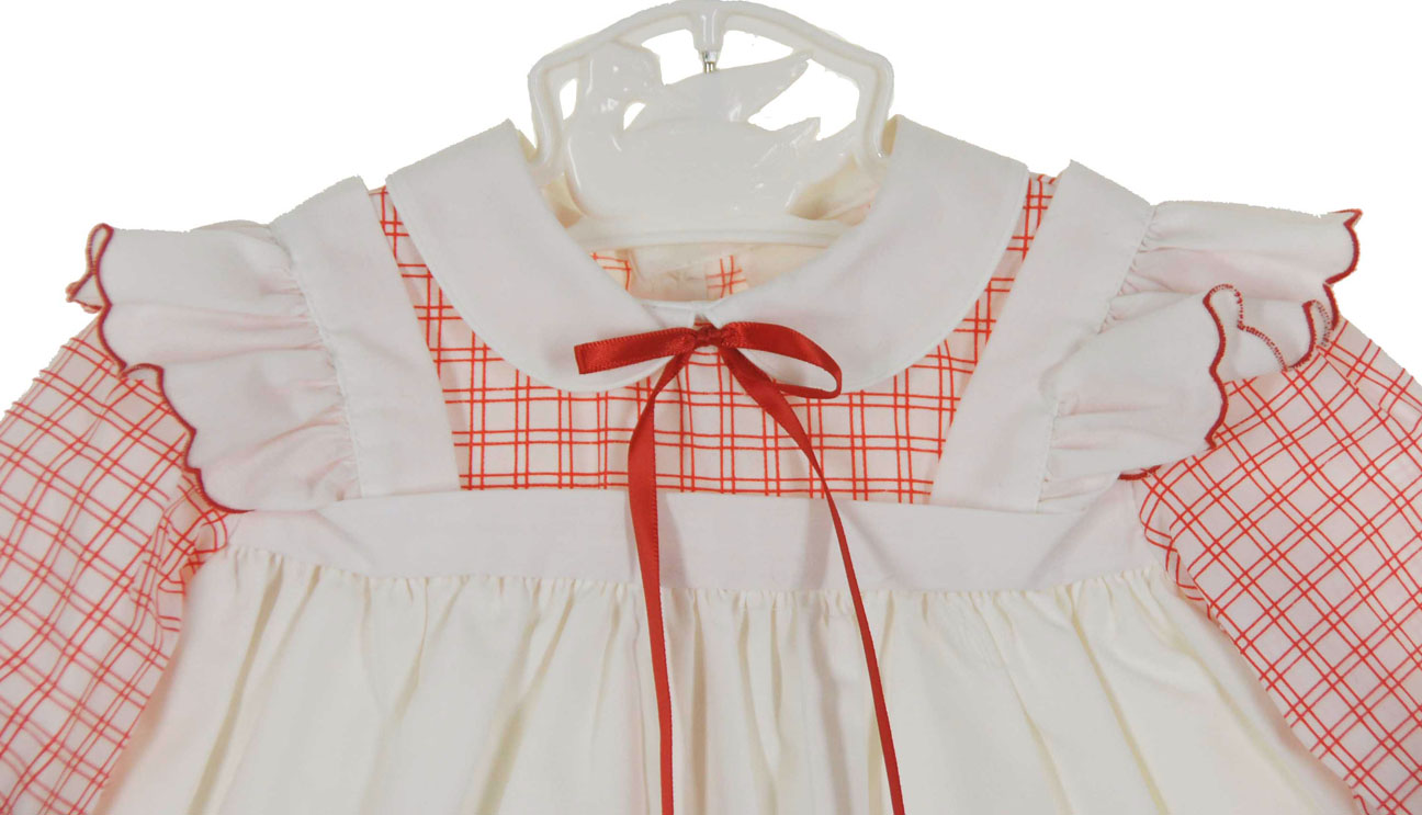 eb5cf6e6f47 vintage Nannette red checked pinafore style dress,vintage red and white pinafore  dress for baby girls,baby girls red and white pinafore dress,red and white  ...