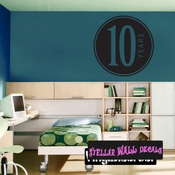 10 years birthday Celebrations Wall Decals - Wall Quotes - Wall Murals CE03010yrsVIII SWD