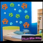 16 Anarchy Vinyl Wall Decal Stickers Kit SWD