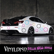 16 Circles Outlined Vinyl Wall Decal Stickers Kit SWD