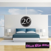 20 years Celebrations Wall Decals - Wall Quotes - Wall Murals CE03620yrsVIII SWD