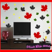 216 Leaves Leaf Vinyl Wall Decal Stickers Kit SWD