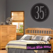 35 years Celebrations Wall Decals - Wall Quotes - Wall Murals CE03935yrsVIII SWD