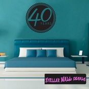 40 years Celebrations Wall Decals - Wall Quotes - Wall Murals CE03440yrsVIII SWD