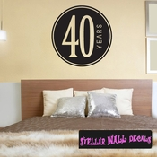 40 years old Celebrations Wall Decals - Wall Quotes - Wall Murals CE02940yrsVIII SWD