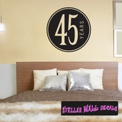 45 years Celebrations Wall Decals - Wall Quotes - Wall Murals CE03745yrsVIII SWD