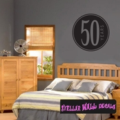 50 years old birthday Celebrations Wall Decals - Wall Quotes - Wall Murals CE02850yrsVIII SWD