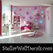 52 Circle Hole Vinyl Wall Decal Stickers Kit SWD