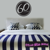 60 years Celebrations Wall Decals - Wall Quotes - Wall Murals CE03260yrsVIII SWD