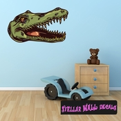 Alligator Wall Decal - Wall Fabric - Repositionable Decal - Vinyl Car Sticker - usc001