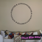 Always And forever circle text Celebrations Wall Decals - Wall Quotes - Wall Murals CE045ForverVIII SWD