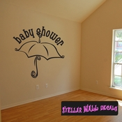 Baby Shower Umbrella Celebrations Wall Decals - Wall Quotes - Wall Murals CE020BabyshVIII SWD