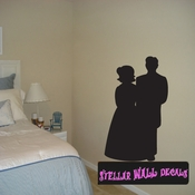 Bride And Groom Just Married Celebrations Wall Decals - Wall Quotes - Wall Murals GROOMBRIDEVIII SWD