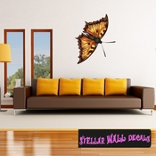 Butterfly Wall Decal - Wall Fabric - Repositionable Decal - Vinyl Car Sticker - usc001