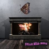 Butterfly Wall Decal - Wall Fabric - Repositionable Decal - Vinyl Car Sticker - usc002