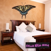 Butterfly Wall Decal - Wall Fabric - Repositionable Decal - Vinyl Car Sticker - usc003